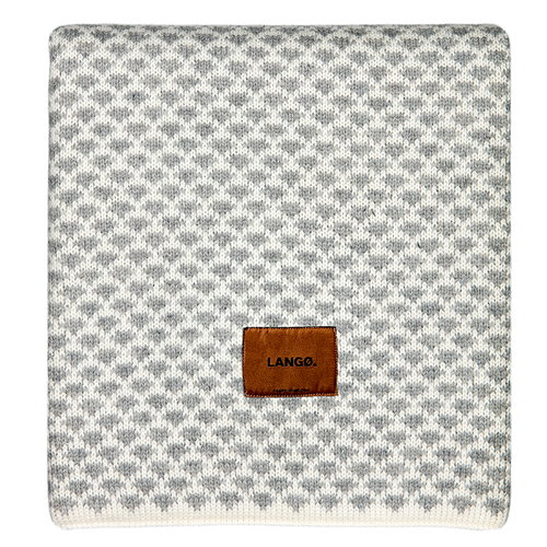 Lang� Drops blanket, wool, light grey-white