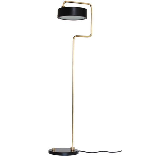 Made By Hand Petite Machine floor lamp, black
