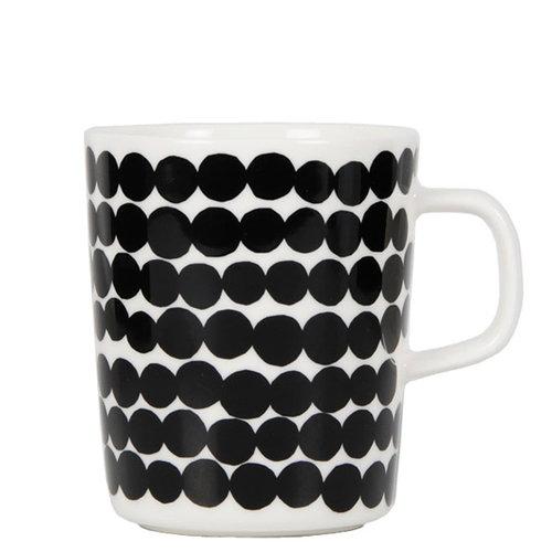 Marimekko Oiva - R�symatto muki 2,5 dl, musta-valkoinen