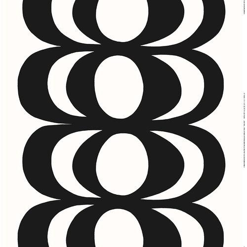 Marimekko Kaivo fabric, off-white - dark grey