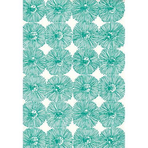 Pihlgren ja Ritola Hahtuva wallpaper, turquoise