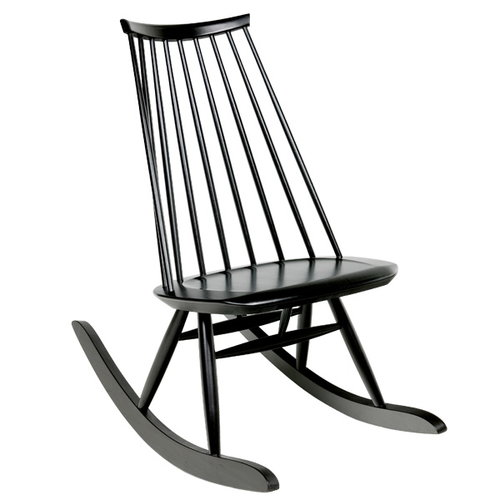 Artek Mademoiselle rocking chair, black