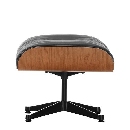 Vitra Lounge Ottoman, American cherry - black leather