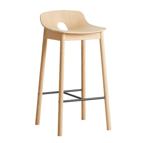 Woud Mono bar stool 65 cm, oak