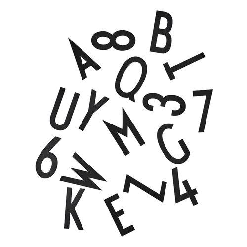 Design Letters Muistitaulun kirjaimet, suuri, musta