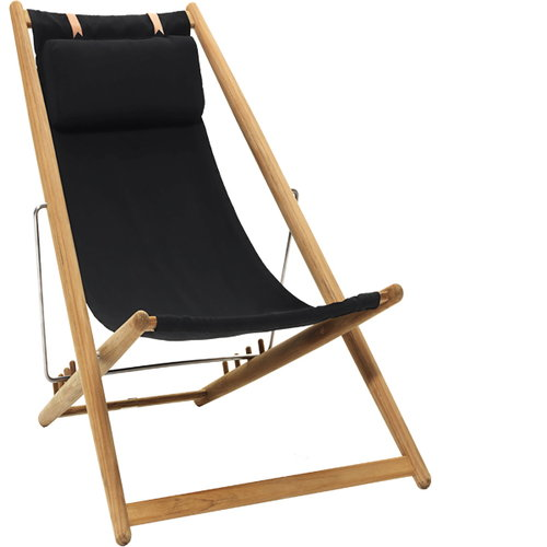 Skargaarden H55 easy chair, teak/sunbrella black
