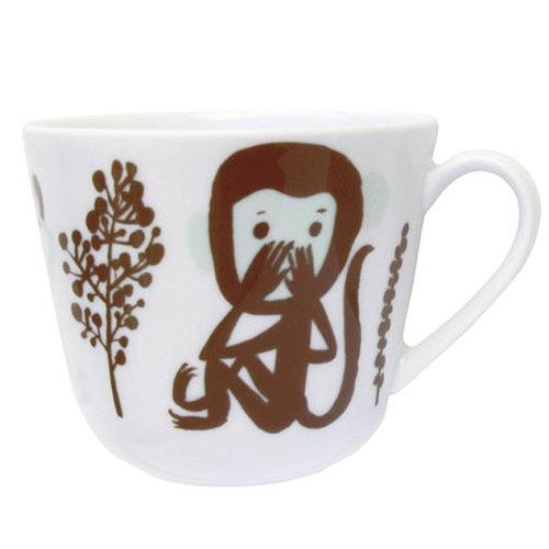Kauniste Monkey mug, brown
