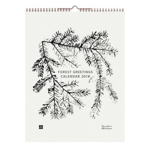Teemu J�rvi Illustrations Calendario Forest Greetings 2018