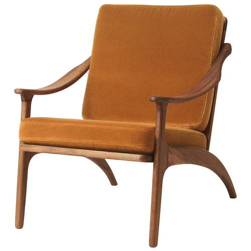 Warm Nordic Lean Back lounge chair, teak - amber