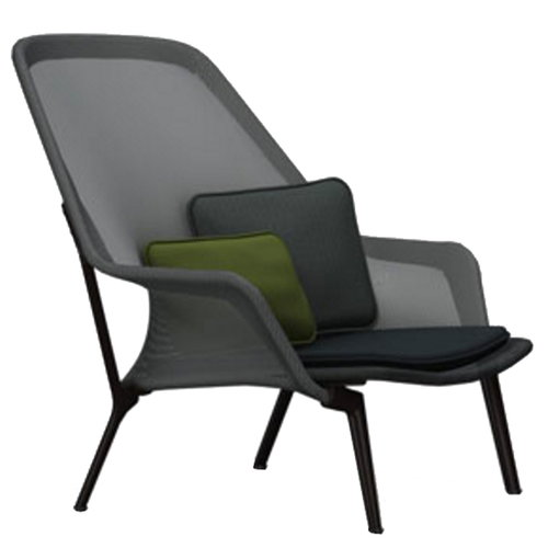 Vitra Slow Chair, black - chocolate