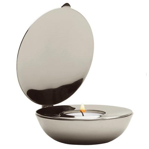 Design House Stockholm Shell tea light holder, nickel