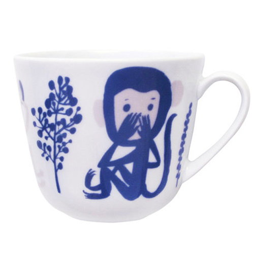 Kauniste Monkey mug, blue