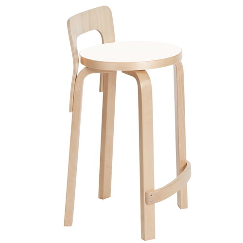 Artek Aalto high chair K65, white laminate