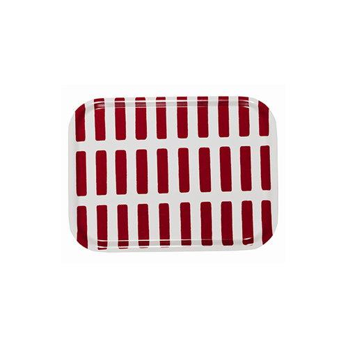 Artek Siena tarjotin 27x20cm, valko-punainen