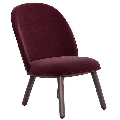 Normann Copenhagen Ace lounge chair, velour, dark red