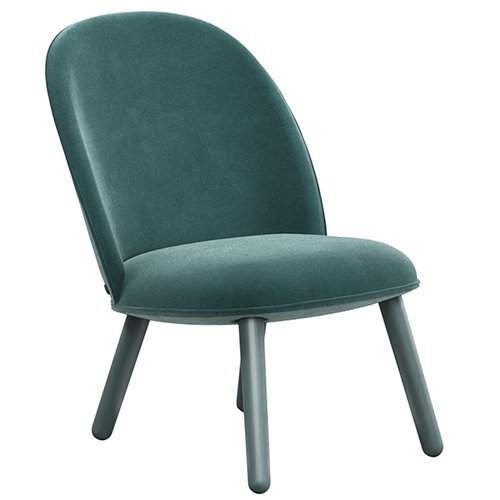 Normann Copenhagen Ace lounge chair, velour, lake blue