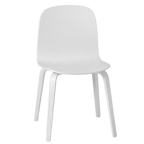 Muuto Visu chair, wood frame, white