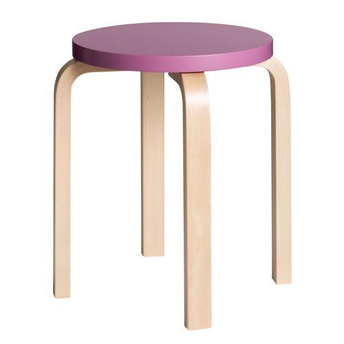 Artek Aalto stool E60, purple - birch
