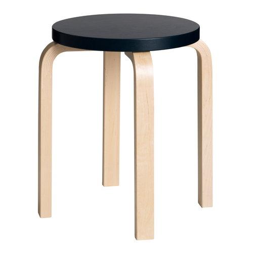 Artek Aalto stool E60, dark blue - birch