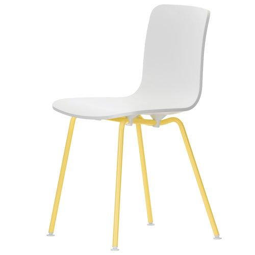 Vitra HAL Tube tuoli, valkoinen - keltainen