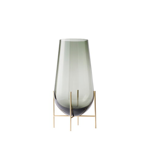 Menu �chasse vase, small, smoke