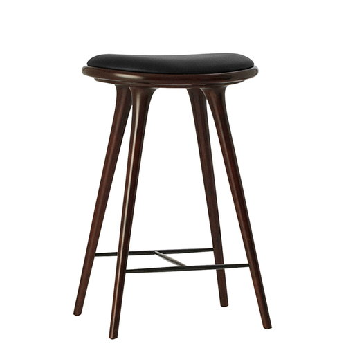Mater High Stool, 69 cm, dark stained beech