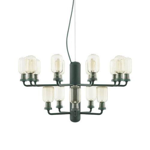 Normann Copenhagen Amp chandelier, small, gold-green