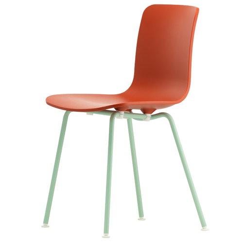 Vitra HAL Tube tuoli, tiilenpunainen - vaaleanvihre�