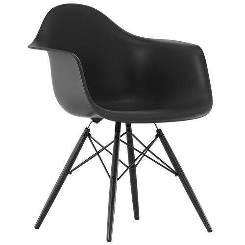 Vitra  Eames DAW chair, basic dark - black maple
