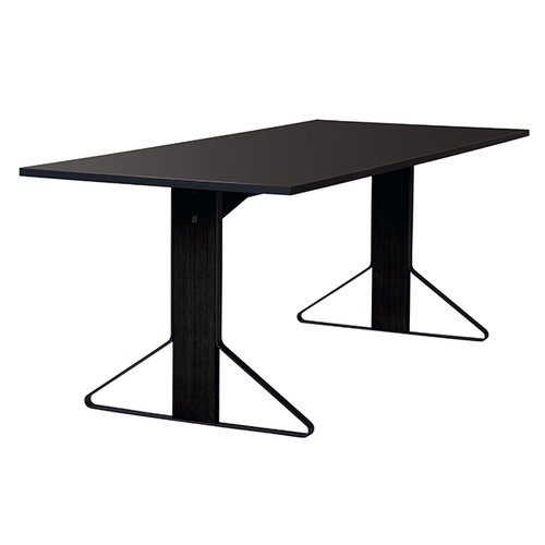 Artek REB 001 Kaari table, black lino / black oak