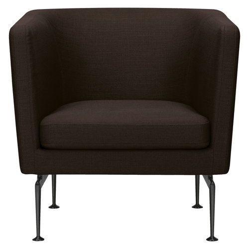 Vitra Suita Club nojatuoli, basic dark - musta/ruskea