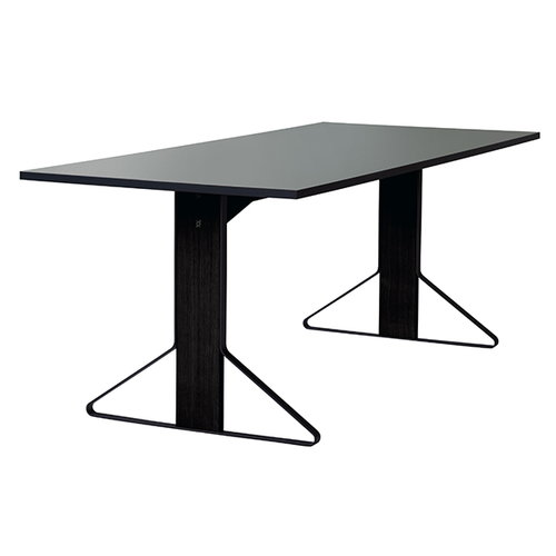 Artek REB 001 Kaari table, grey lino / black oak