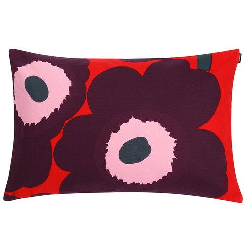 Marimekko Unikko cushion cover 40 x 60 cm, red - purple - pink