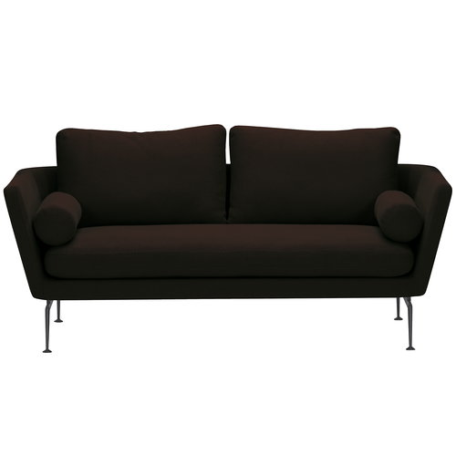 Vitra Suita sohva 2-istuttava, basic dark - musta/ruskea