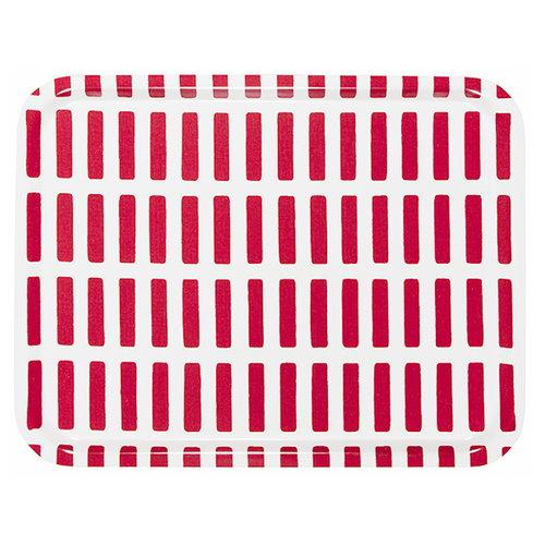 Artek Siena tray 43x33cm, white-red