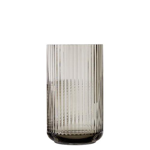 Lyngby Porcelain Lyngby glass vase, 25 cm, smoke