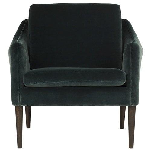 Warm Nordic Mr Olsen lounge chair, smoked oak - dark petrol
