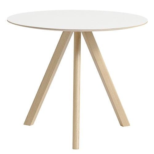 Hay Copenhague CPH20 round table 90cm, matt lacq. oak - white lam.