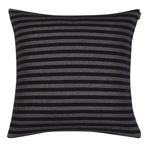 Marimekko Tasaraita cushion cover, black - grey