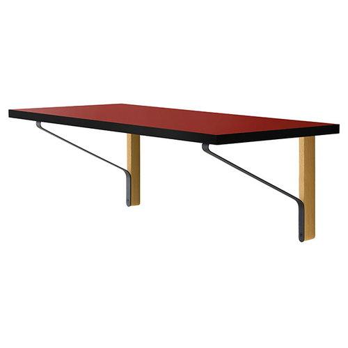Artek REB 006 Kaari desk, red / black / oak