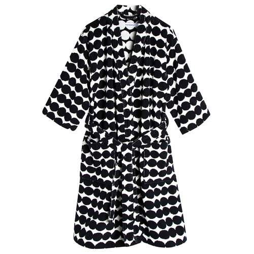 Marimekko R�symatto bathrobe, black-white