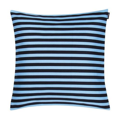 Marimekko Tasaraita cushion cover, dark blue - light blue