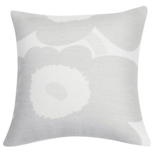 Marimekko Unikko tyynynpäällinen 50 x 50 cm, valkoinen-vaaleanharmaa