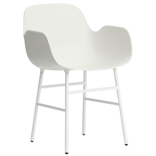 Normann Copenhagen Form armchair, white/steel