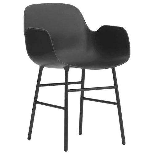 Normann Copenhagen Form armchair, steel base, black