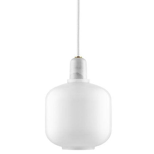 Normann Copenhagen Amp riippuvalaisin, pieni, valkoinen