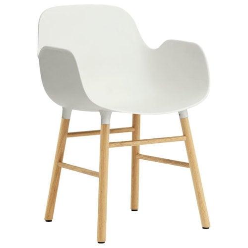Normann Copenhagen Form k�sinojallinen tuoli, valkoinen/tammi