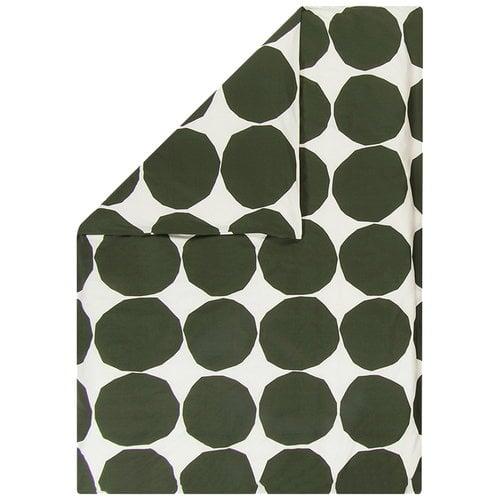 Marimekko Copripiumone Kivet 150 x 210 cm, écru - verde scuro