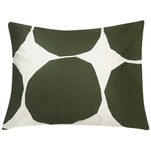 Marimekko Kivet tyynyliina, luonnonvalkoinen - tummanvihreä