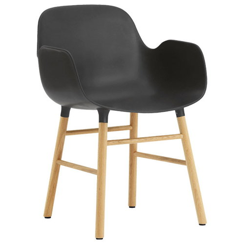 Normann Copenhagen Form armchair, black/oak